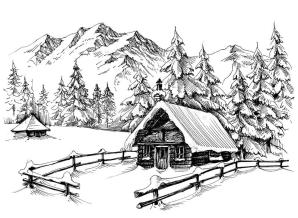 winter-cabin-drawing-mountains-84365214.jpg